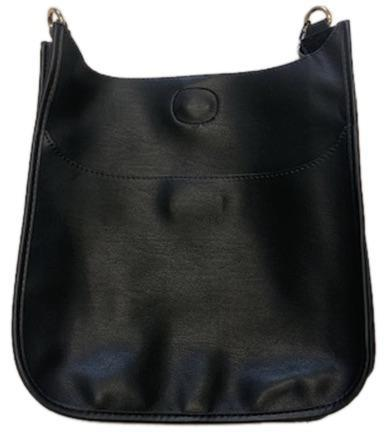Faux Leather Messenger - Clasic