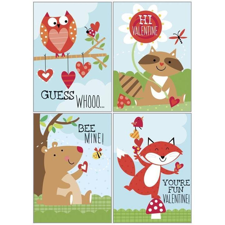 Kids Valentine Pack - Forest Animals