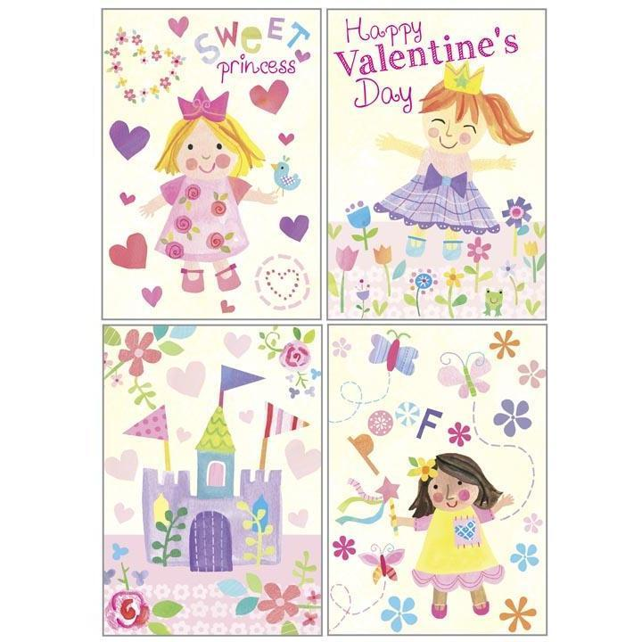 Kids Valentine Pack - Princess Girls