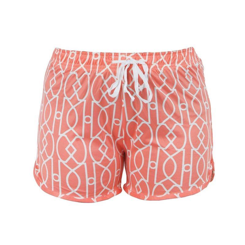 Hello Mello Pajama Shorts - Calming Coral