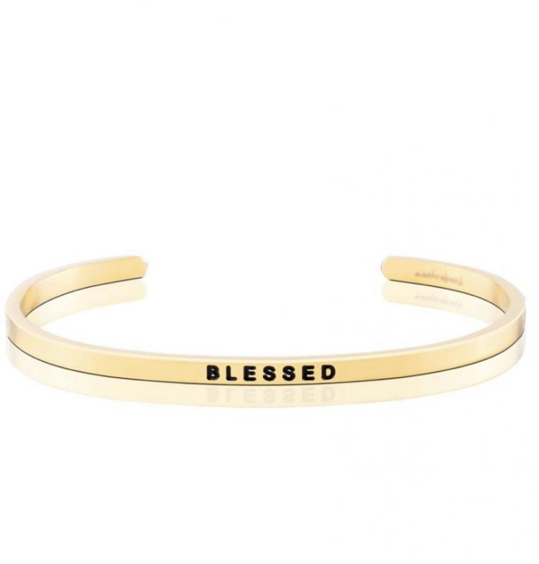 MantraBand Cuff Bracelet - Blessed (Gold)