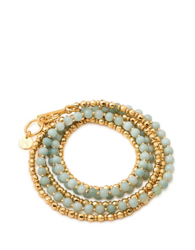 Spartina 449 Boho Bead Wrap Bracelet In Sea Foam
