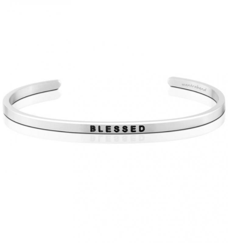 MantraBand Cuff Bracelet - Blessed (Silver)