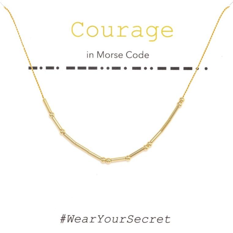 Wear Your Secret Morse Code Necklace - Courage