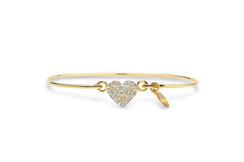 Stia Pavé Icon Heart Bracelet
