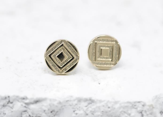 Pieces Of Me Earrings - Determined (Gold)