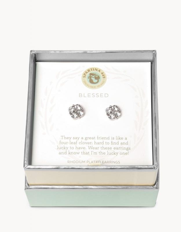 Spartina 449 Earrings - Blessed (Clear)