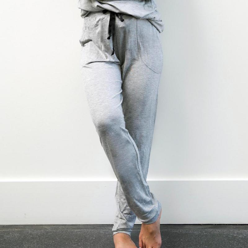 Hello Mello Weekender Drawstring Pants - Grey