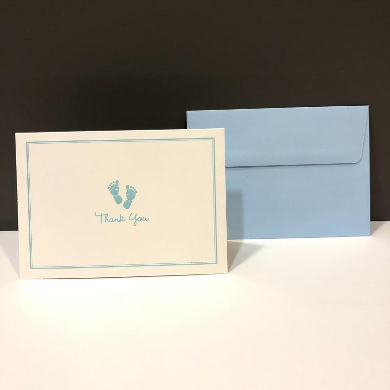 Thank You Folding Note - Baby Steps Blue (14 ct)