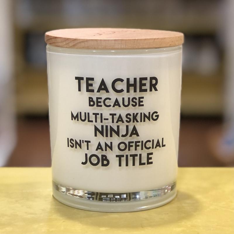 Teacher Job Title Soy Candle (Apples & Maple Bourbon)