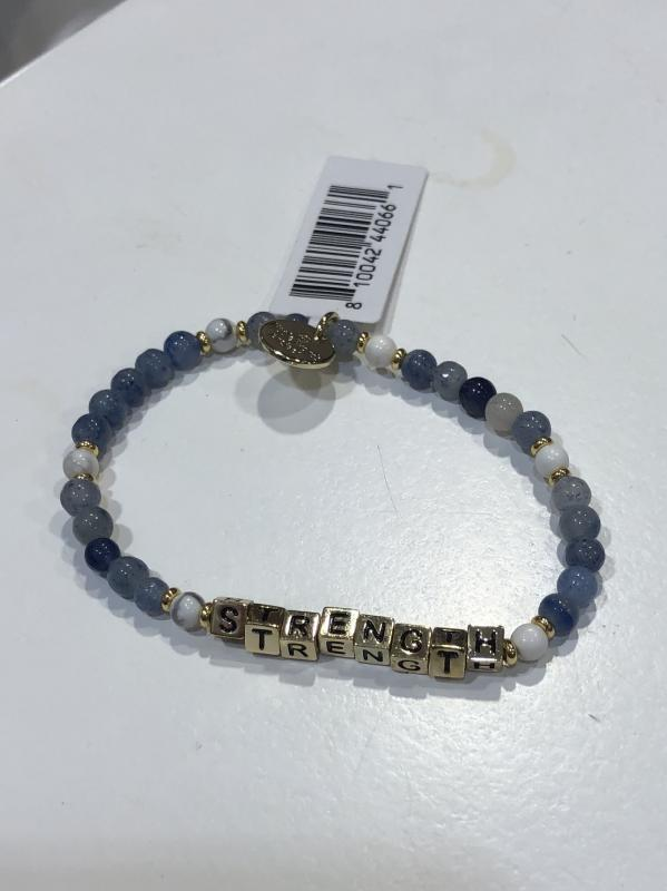 Little Words Project Bracelet - Strength (Blue/Gold)