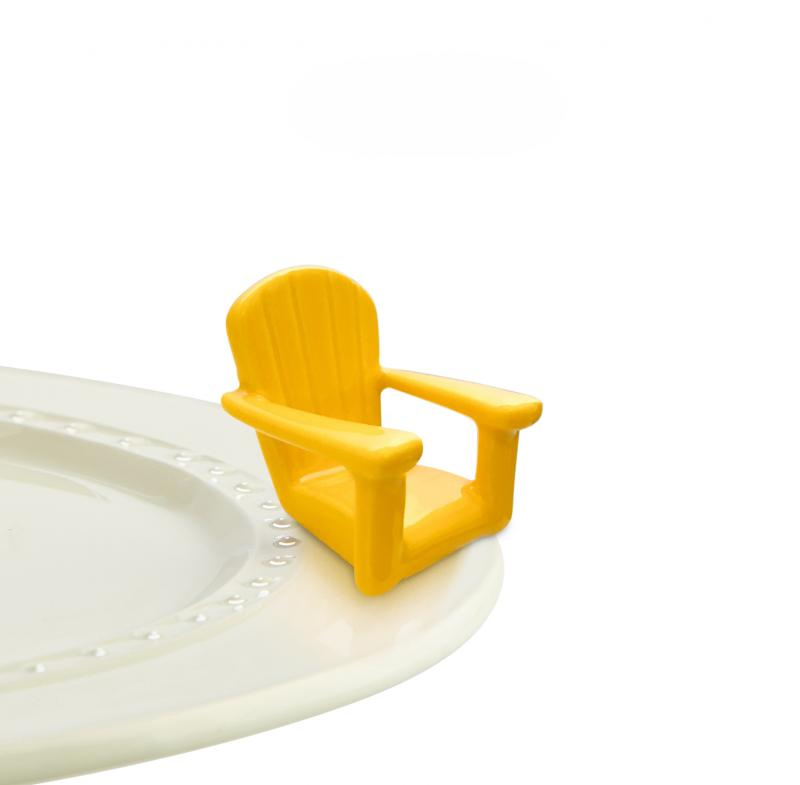 Nora Fleming Mini - Yellow Adirondack Chair