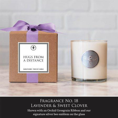 Hugs from a distance - Ella B. Candle