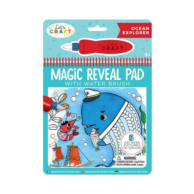 Let's Craft - Magic Reveal Pad + Water Brush: Ocean Explorer