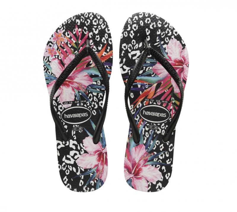 Havaianas Women's Slim Animal Floral Print Flip-Flops