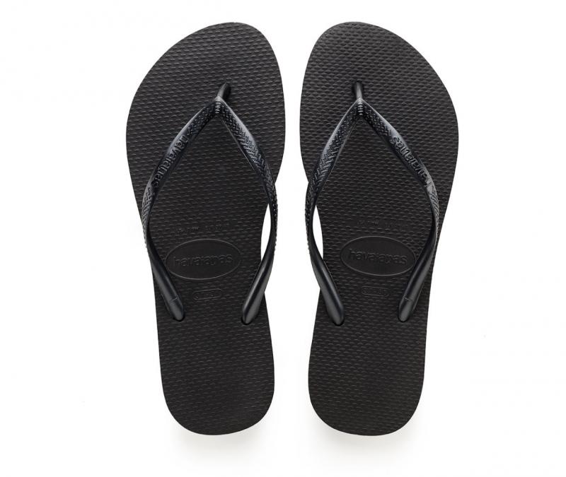 Havaianas Women's Solid Black Flip Flops