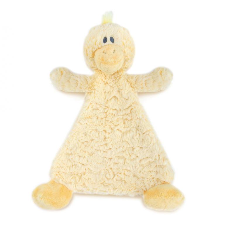 Demdaco Cozies Rattle Blankie - Daddles Duck