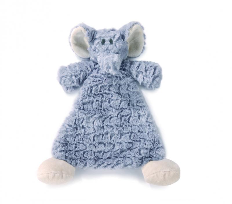 Demdaco Cozies Rattle Blankie - Ellery Elephant