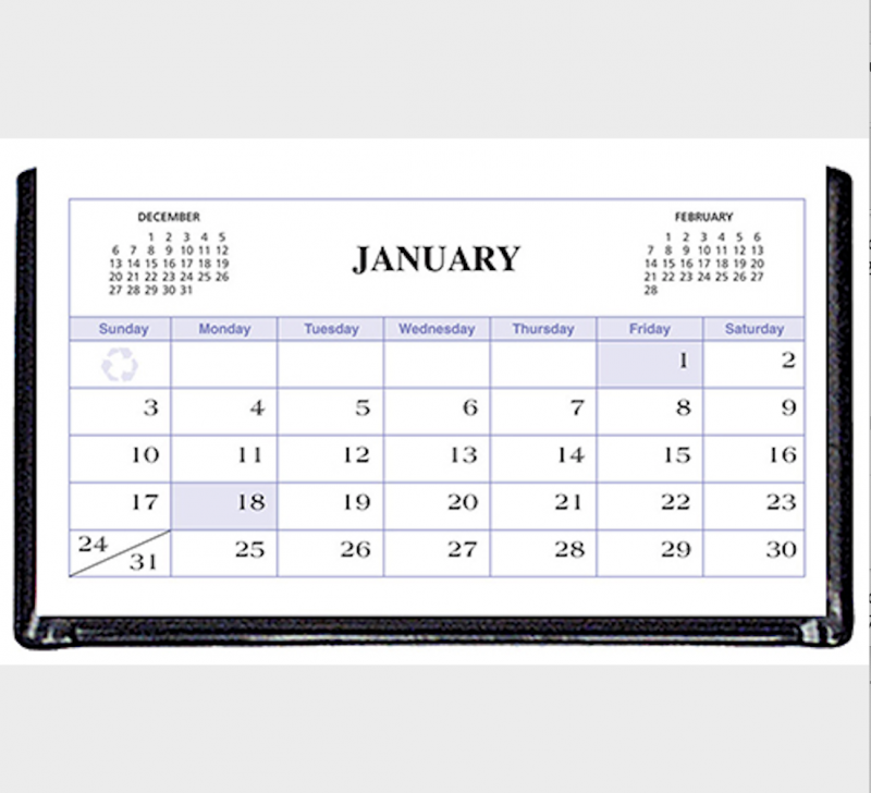 Payne Publishers Triangular Vinyl Desk Calendar - 5.25 x 2.75