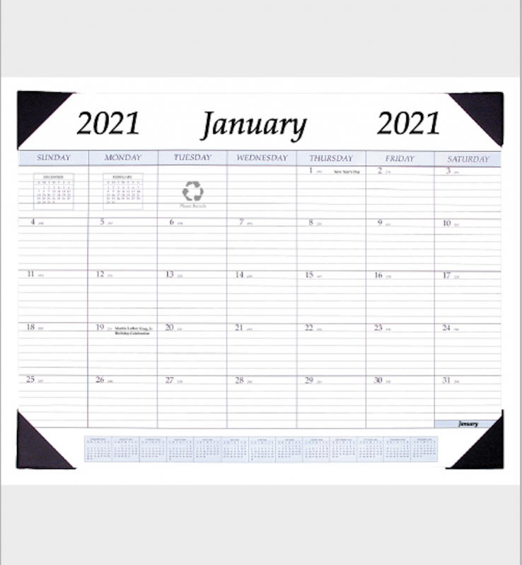 Payne Publishers All Purpose Monthly Desk Pad Calendar