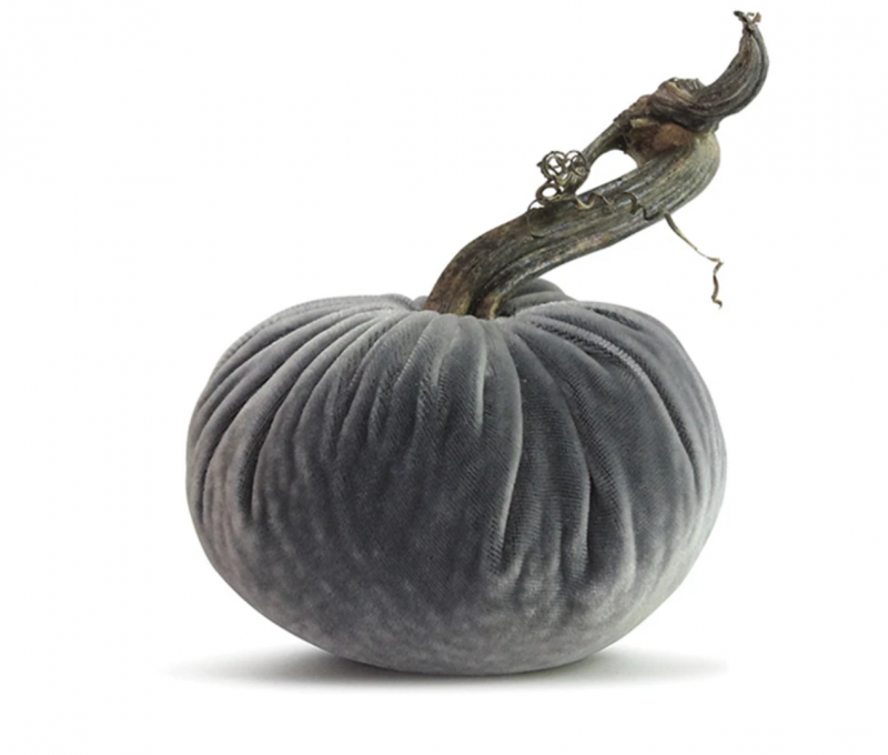 Velvet Plush Pumpkin - Platinum