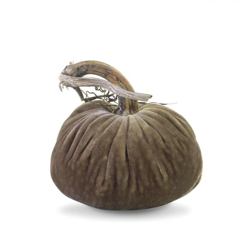 Velvet Plush Pumpkin - Stone