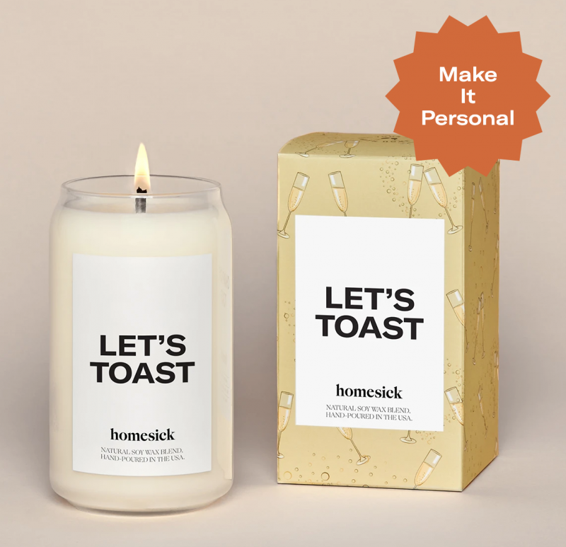 Homesick Candle - Let's Toast
