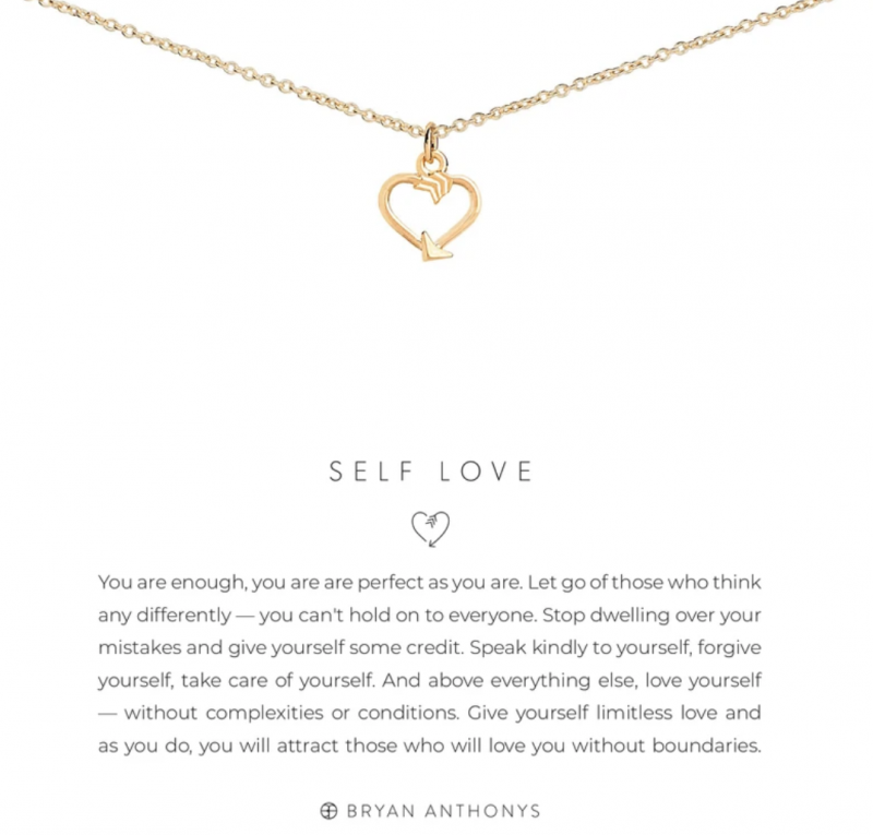 Bryan Anthonys Necklace - Self Love (Gold)