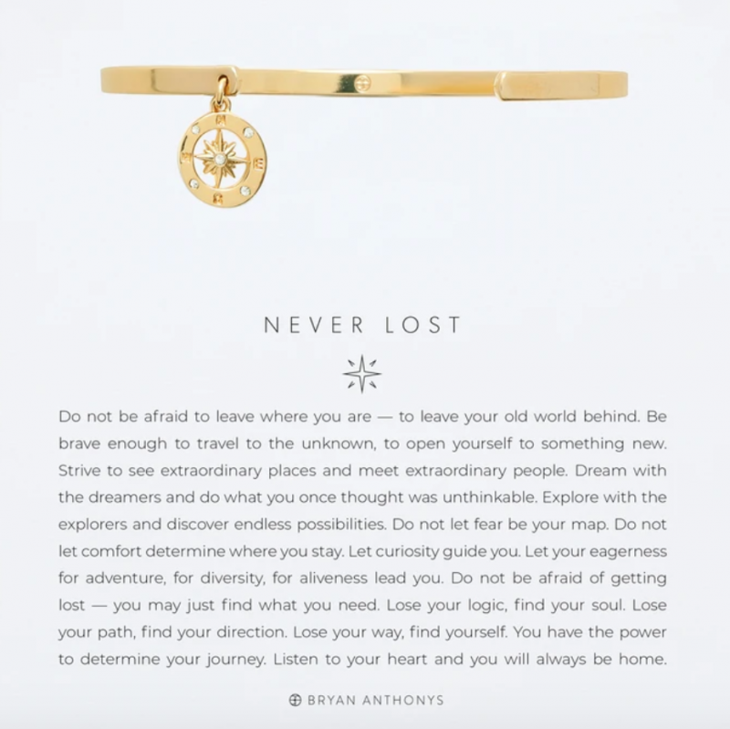 Bryan Anthonys Charm Cuff - Never Lost (Gold)
