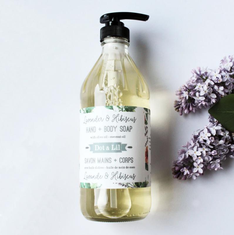 Lavender & Hibiscus Liquid Soap