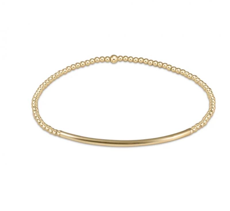 enewton Gold Beaded Bracelet - 2mm bliss bar