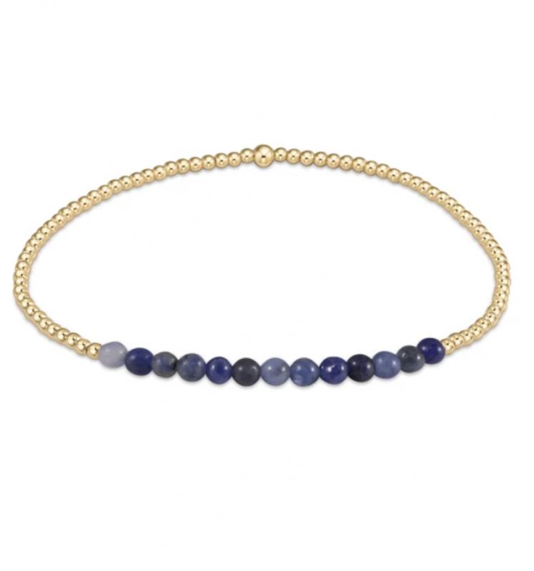 enewton Gold Beaded Bracelet - 2mm Sodalite