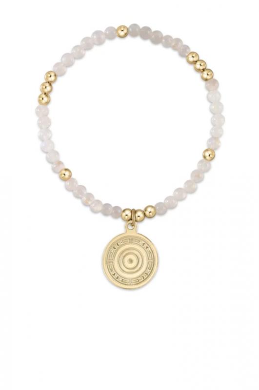 enewton Worthy Gold Beaded Bracelet with Charm - Moonstone