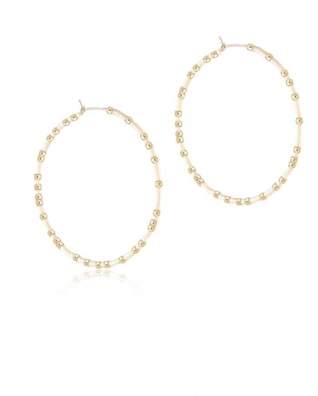 enewton Hope Unwritten Hoop Earrings - Off White
