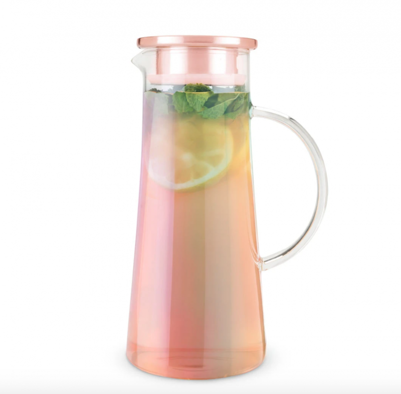 Iridescent Glass Iced Tea Carafe