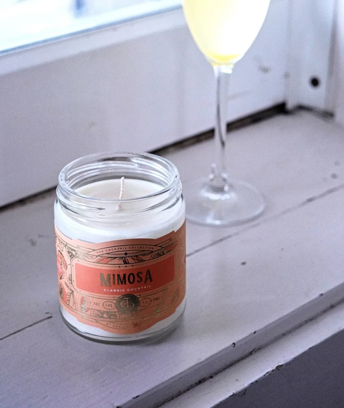 Mimosa Cocktail Candle by Rewined