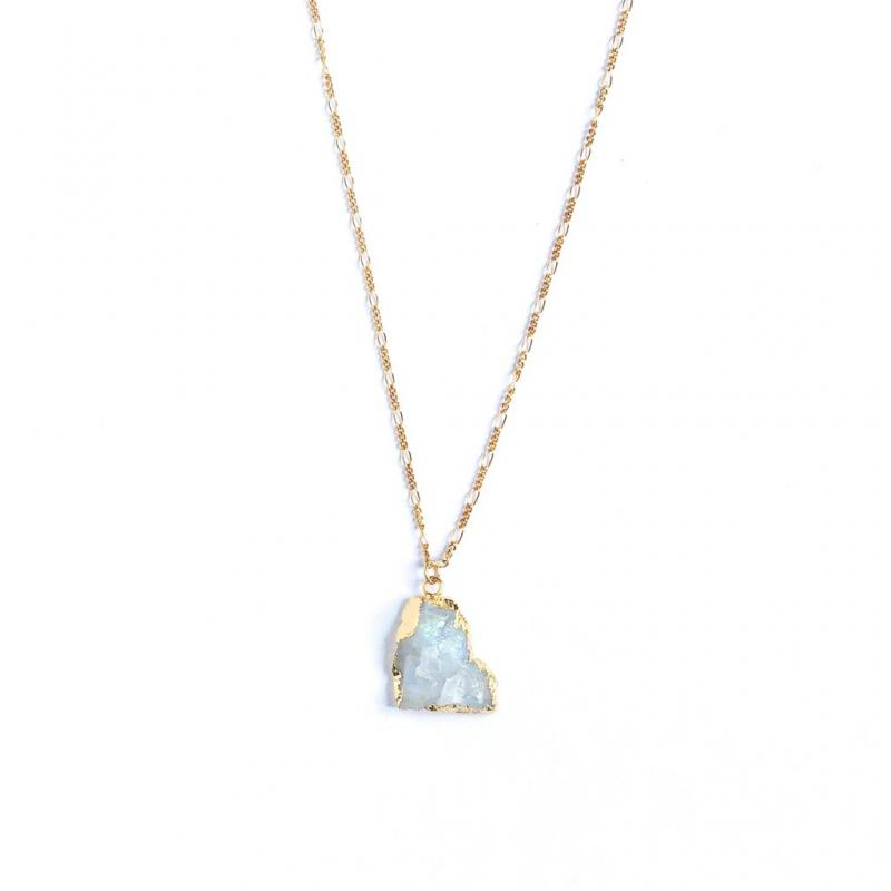 Waimea Moonstone Necklace - Lavender Crush