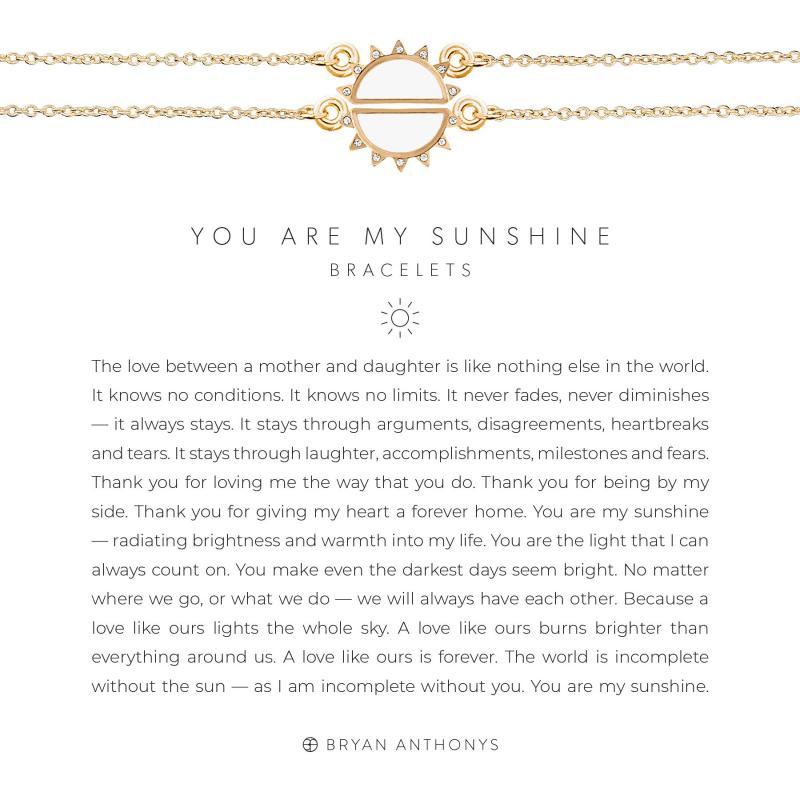 Bryan Anthonys You Are My Sunshine Bracelets (Gold)