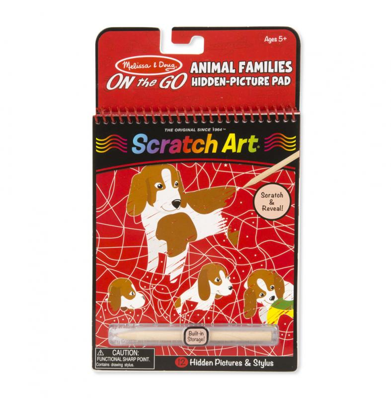 Animal Families Scratch Art Reveal Pad