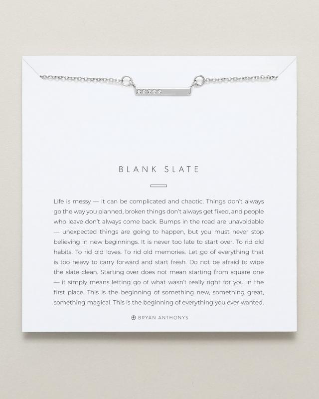 Bryan Anthonys Necklace - Blank Slate
