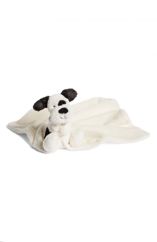 Bashful Black and Cream Puppy Soother