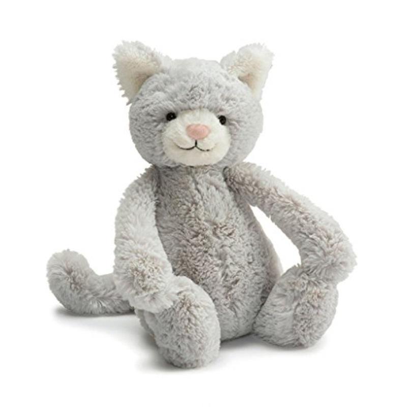 Bashful Grey Kitty - Medium