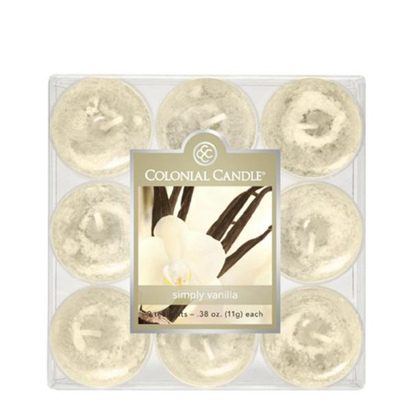 Classic Wax Tealight Vanilla Candles