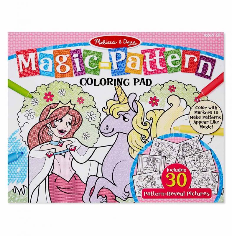Magic-Patterns Coloring Pad - Pink