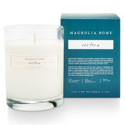 Magnolia Home Boxed Glass Candle - Restore