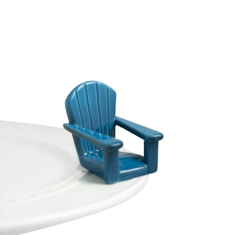 Nora Fleming Mini Blue Chair Platter Ornament