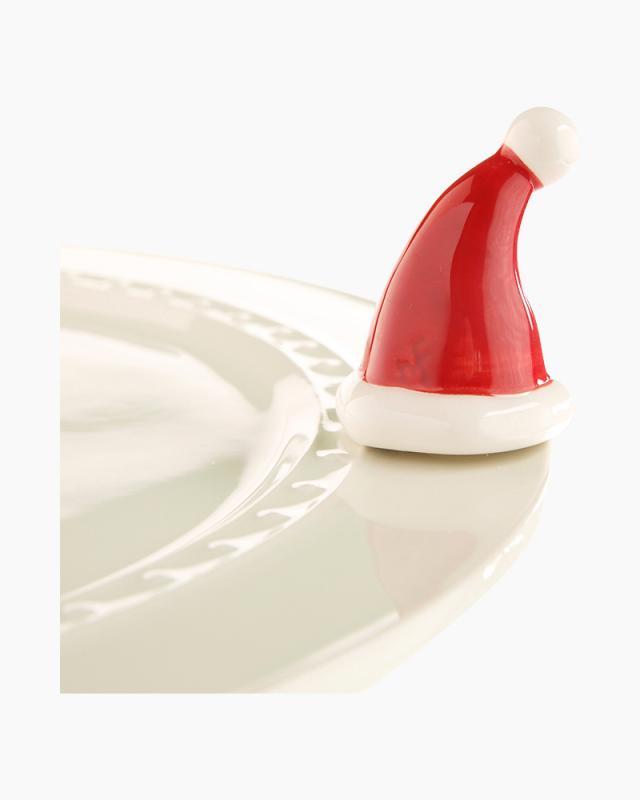 Nora Fleming Mini Santa Hat Platter Ornament