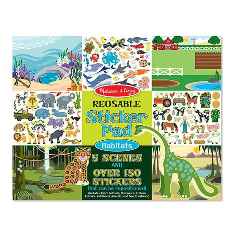Reusable Sticker Book - Habitats