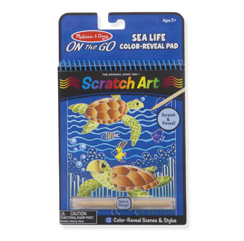 Sea Life Color-Reveal Scratch Art Activity Pad