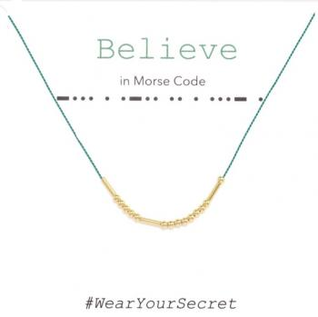 Wear Your Secret Morse Code Necklace - Believe
